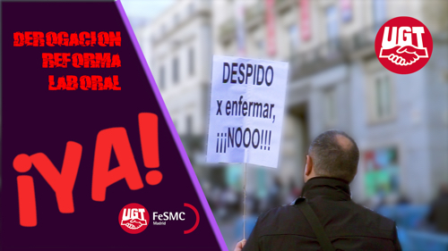 VIDEO | FeSMC UGT Madrid se moviliza en la concentración por el derecho a no ser despedido por enfermar