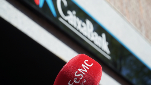 VIDEO | FeSMC Madrid se concentra contra el ERE en CAIXABANK